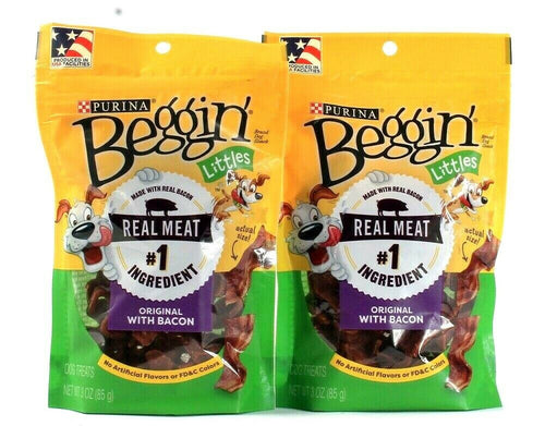 2 Bags Purina 3 Oz Beggin Real Meat Original With Bacon Dog Treats BB 4/2021