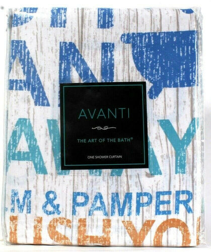 1 Ct Avanti The Art Of The Bath 72 In X 72 In Bath Words Fabric Shower Curtain