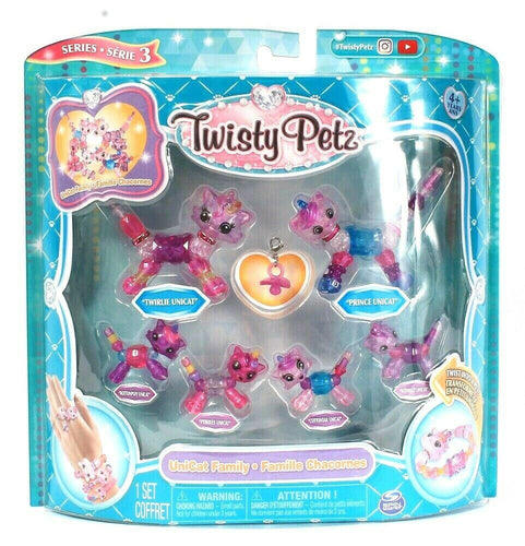 Spin Master Twisty Petz Series 3 UniCat Family Twist Into Bracelet Accessories
