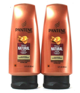 2 Bottles Pantene Pro V 12 Oz Truly Natural Hair Curl Defining Conditioner