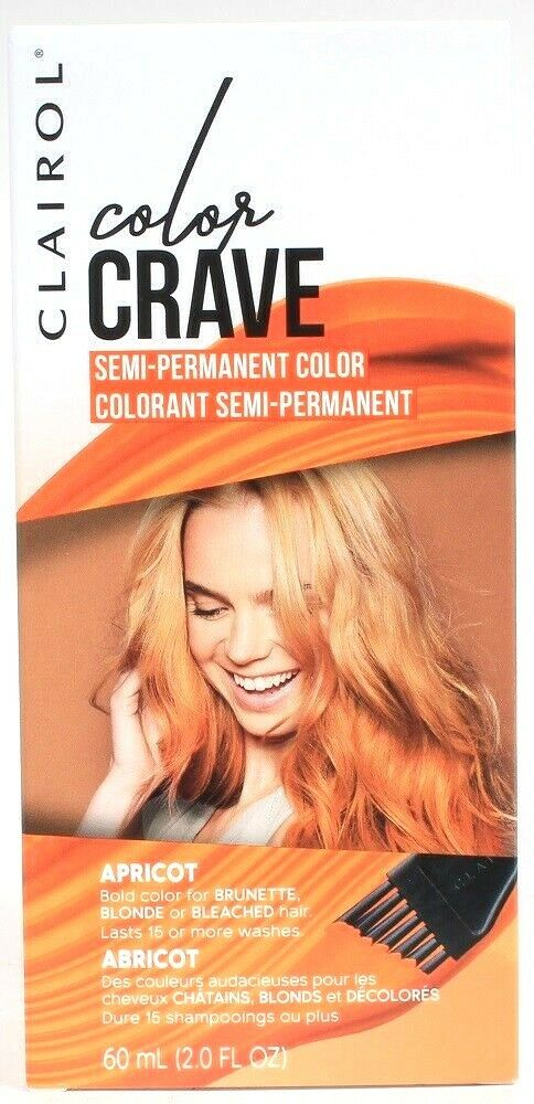 Clairol Color Crave Apricot Bold Semi Perm Dye For Brown Blonde Bleached Hair