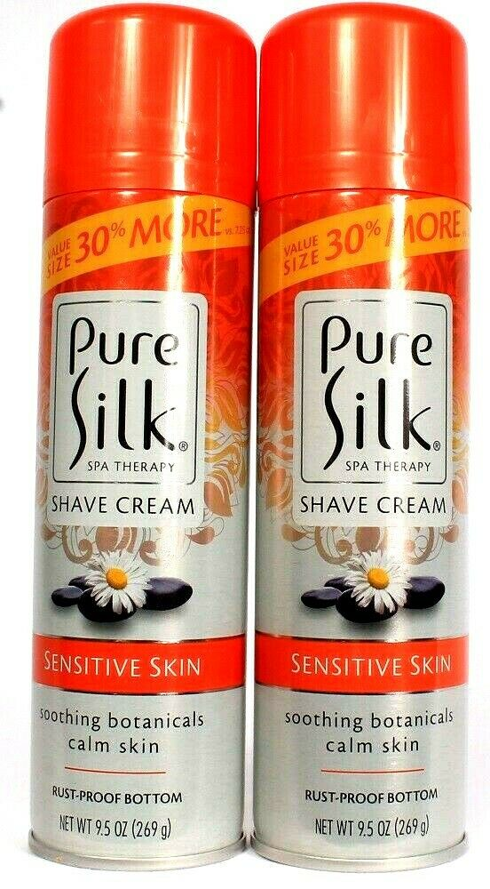 2 Spa Therapy Pure Silk Sensitive Skin Soothing Botanicals Calm Skin Shave Cream