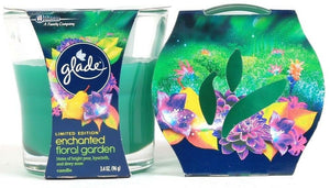 2 Glade 3.4oz Limited Edition Enchanted Floral Garden Candles Bright Pear & Moss