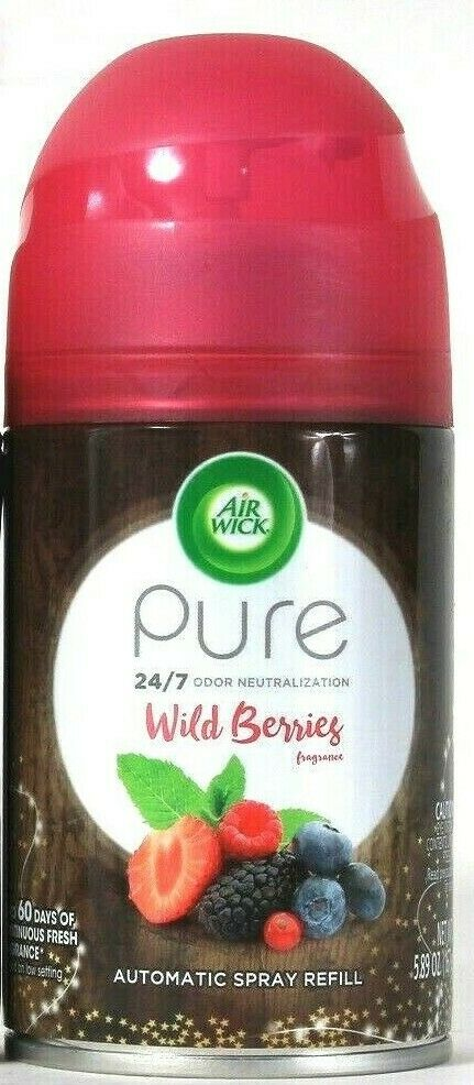 1 Air Wick 5.89 Oz Pure Odor Neutralization Wild Berries Automatic Spray Refill