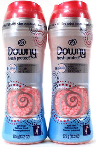2 Downy Fresh Protect In Wash Odor Defense With Febreze April Fresh 13.2 Oz