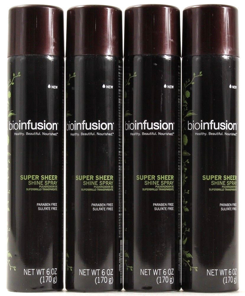 4 Bioinfusion Super Sheer Shine Spray Paraben And Sulfate Free Healthy Beautiful