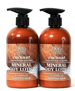 2 Bottles Dead Sea Collection 16.9 Oz Coconut Oil Moisture Mineral Body Lotion