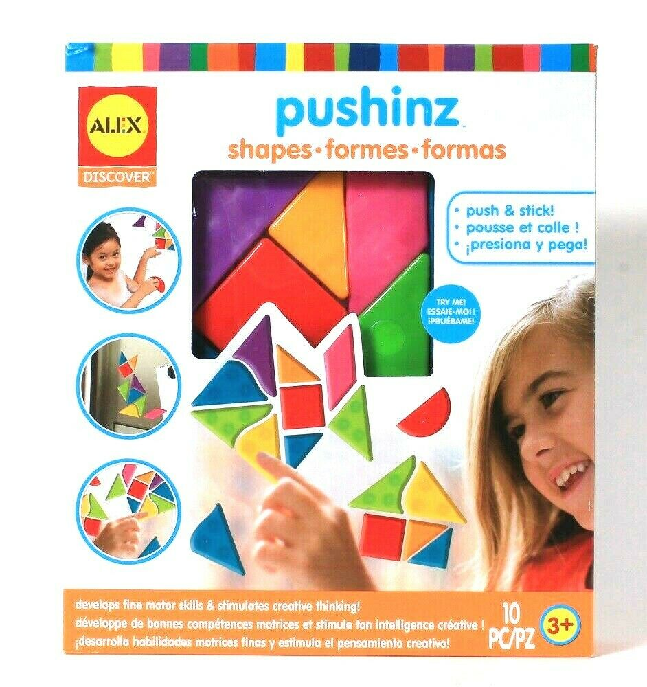 Alex Discover Pushinz Shapes Push & Stick Develops Fine Motors Skills & Thinking