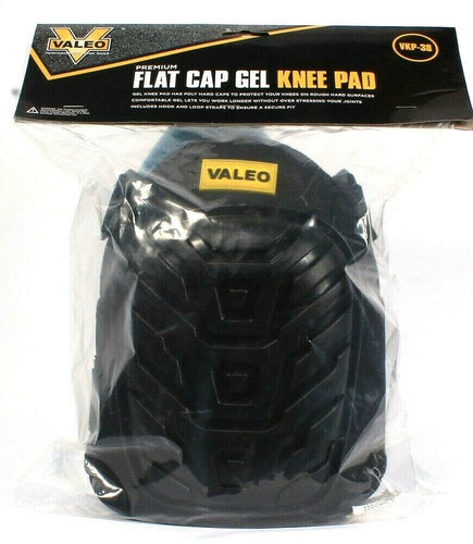 1Pair Valeo Performance Work Gear Premium Flat Poly Hard Cap Gel Knee Pads VKP38