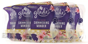 5 Packs Of 2 Glade Plugins Scented Oil Plum Blossom Shimmering Wonder Refills