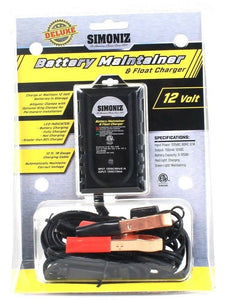 1 Simoniz Deluxe 12 Volt Battery Maintainer & Float Charger 12ft 18 Gauge Cable