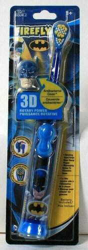 1 Count Firefly Batman 3D Rotary Powered With Cap Gentle Soft Head Toothbrush
