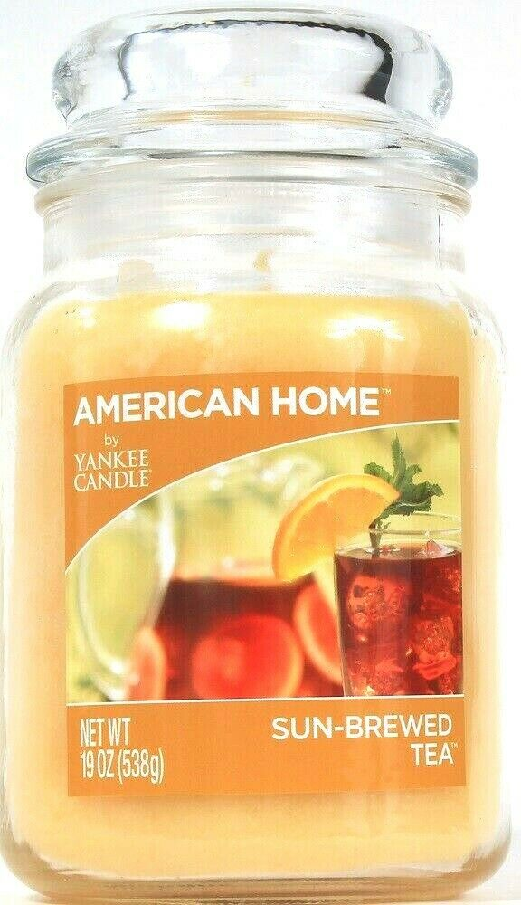 1 American Home By Yankee Candle 19 Oz Sun Brewed Tea 1 Wick Glass Jar Candle