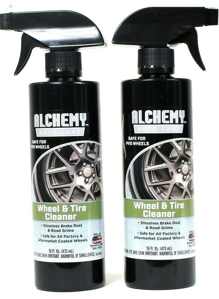 2 Bottles Alchemy Auto Care 16 Oz Dissolve Brake Dust Grime Wheel & Tire Cleaner