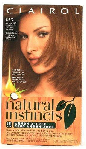 1 Clairol Natural Instincts 6.5G Lightest Golden Brown Semi Permanent Hair Color