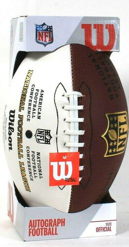 Wilson NFL Official Size Autograph Football Fan Collectible Blank Panel To Sign