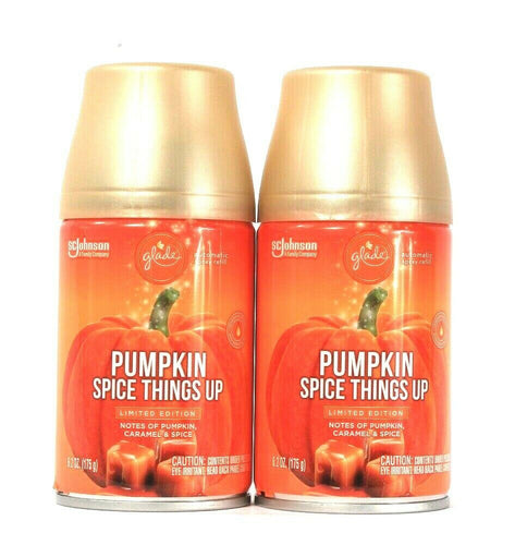 2 Glade 6.2 Oz Limited Edition Pumpkin Spice Things Up Automatic Spray Refill