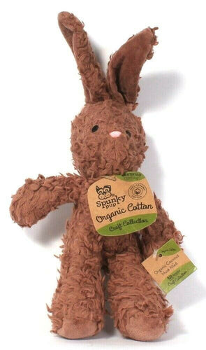 1 Count Spunky Pup Craft Collection Certified Organic Cotton Brown Bunny Dog Toy