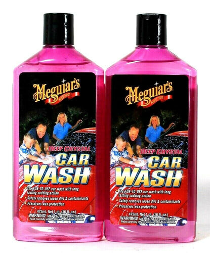 2 Bottles Meguiar's 16 Oz  Deep Crystal Car Wash Fun To Use Sudsing Action