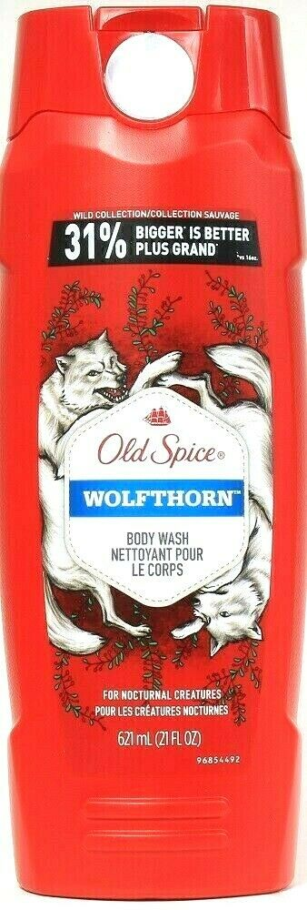 1 Bottle Old Spice Wild Collection 21 Oz Wolfthorn Good Smellingness Body Wash