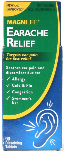 Magnilife Earache Relief Targets Pain For Fast Relief Soothes Discomfort 90 Tabs