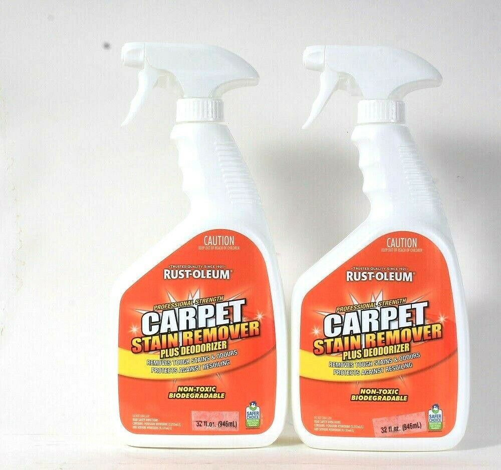 2 Rust-Oleum 32 Oz Professional Strength Carpet Stain Remover With Deodorizer