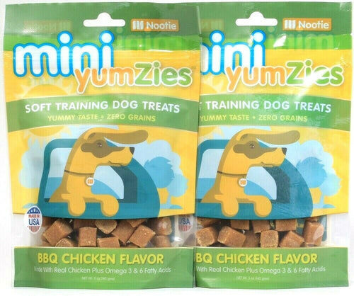 2 Bags Nootie 5 Oz Mini YumZies BBQ Real Chicken Flavor Soft Training Dog Treats
