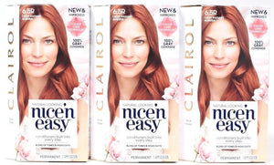 3 Clairol Nice n Easy 6.5R Light Radiant Auburn Blend Tones Highlights Permanent