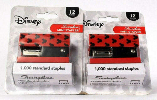 2 Count Swingline Disney Mickey Mouse Mini Stapler 1000 Standard Staples