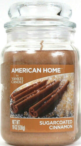 1 American Home By Yankee Candle 19 Oz Sugarcoated Cinnamon Glass Jar Candle