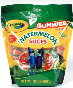 1 Bag Crayola 32oz Gummies No High Fructose Corn Syrup Watermelon Slices BB 7/21