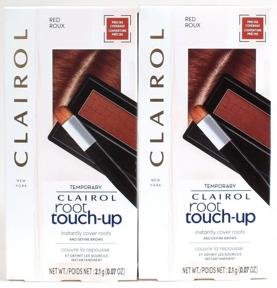 2 Ct Clairol 2.1 Oz Root Touch Up Multi Use Powder For Hair & Eyebrows In Red