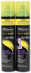2 Tresemme Fresh Start Basic Care Dry Shampoo Revive Without Water 4.3 oz