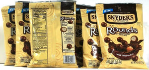 6 Snyders of Hanover New Rounds Milk Chocolate Covered Pretzel balls 4.5oz Bags