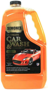 Simoniz 128 Oz Ultimate Car Wash & Conditioner Self Drying Formula Makes 42 Gals