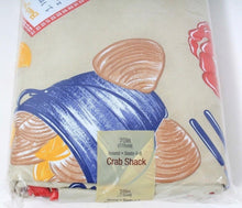 Load image into Gallery viewer, Elrene Home Fashions Crab Shack Vinyl Tablecloth 70in Round Seats 4 to 6