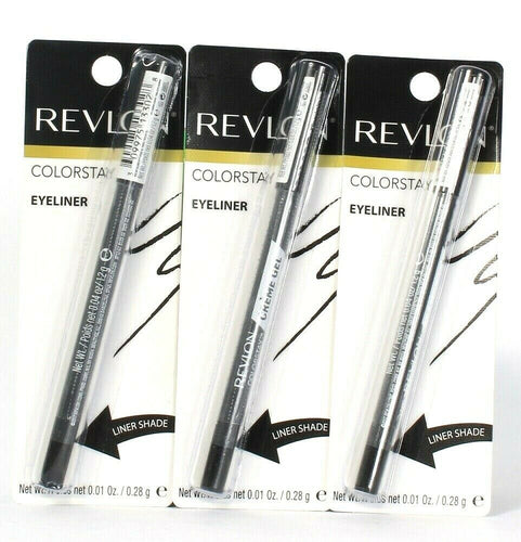 3 Count Revlon 0.01 Oz Colorstay 812 Shining Armour Creme Gel Pencil Eyeliner