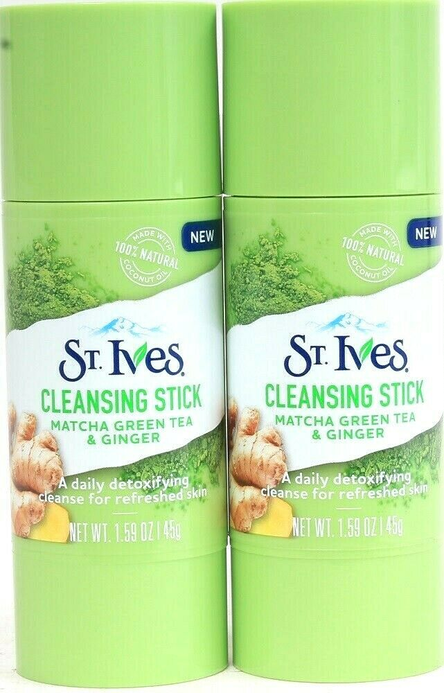 2 St. Ives Cleansing Sticks Matcha Green Tea & Ginger Daily Detoxifying Cleanse