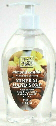 1 Bottle Dead Sea Collection 12 Oz Almond Vanilla Soothing Mineral Hand Soap