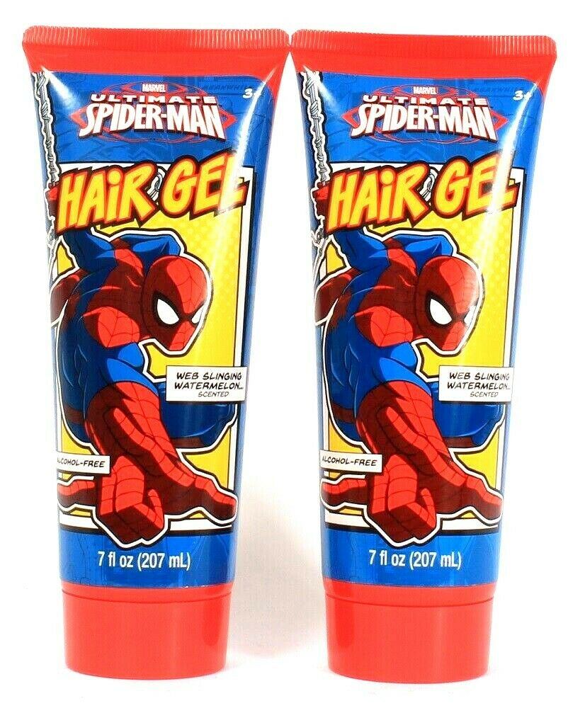 2 Ct GBG Beauty 7 Oz Marvel Ultimate Spider-Man Web Slinging Watermelon Hair Gel