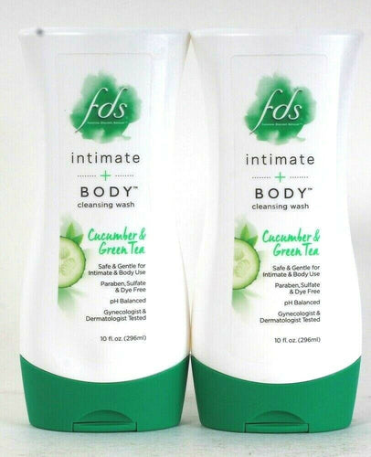 2 Count Fds 10 Oz Intimate & Body Cucumber & Green Tea Safe & Gentle Cleansing