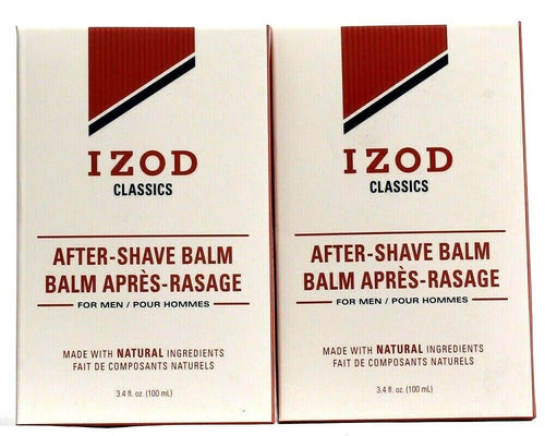2 Izod Classics Aftershave Balm Made With Natural Ingredients Paraben Free 3.4oz