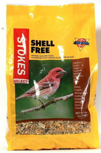 1 Bag Stokes Select 5 Lb Shell Free Premium Wild Bird Food For Finches Titmice