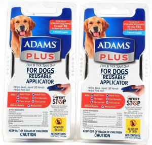 2 Adams Plus Flea Tick Spot On For Extra Large Dogs 16 To 150 LBS  Applicator