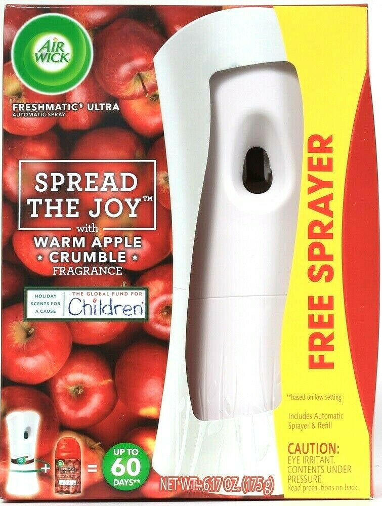 Air Wick Freshmatic Ultra Warm Apple Crumble Automatic Sprayer & 1 Ct Refill