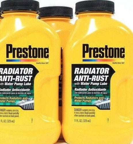 3 Prestone Protects Radiator Anti-Rust With Water Pump Lube Coats Cooling System