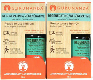 2 Ct Gurunanda 10ml Regenerating Neroli Kiss Aromatherapy Ready To Use Roll On