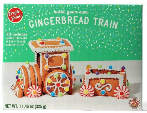 1 Create a Treat Build Your Own Gingerbread Train Kit Assorted Candy Icing Tip