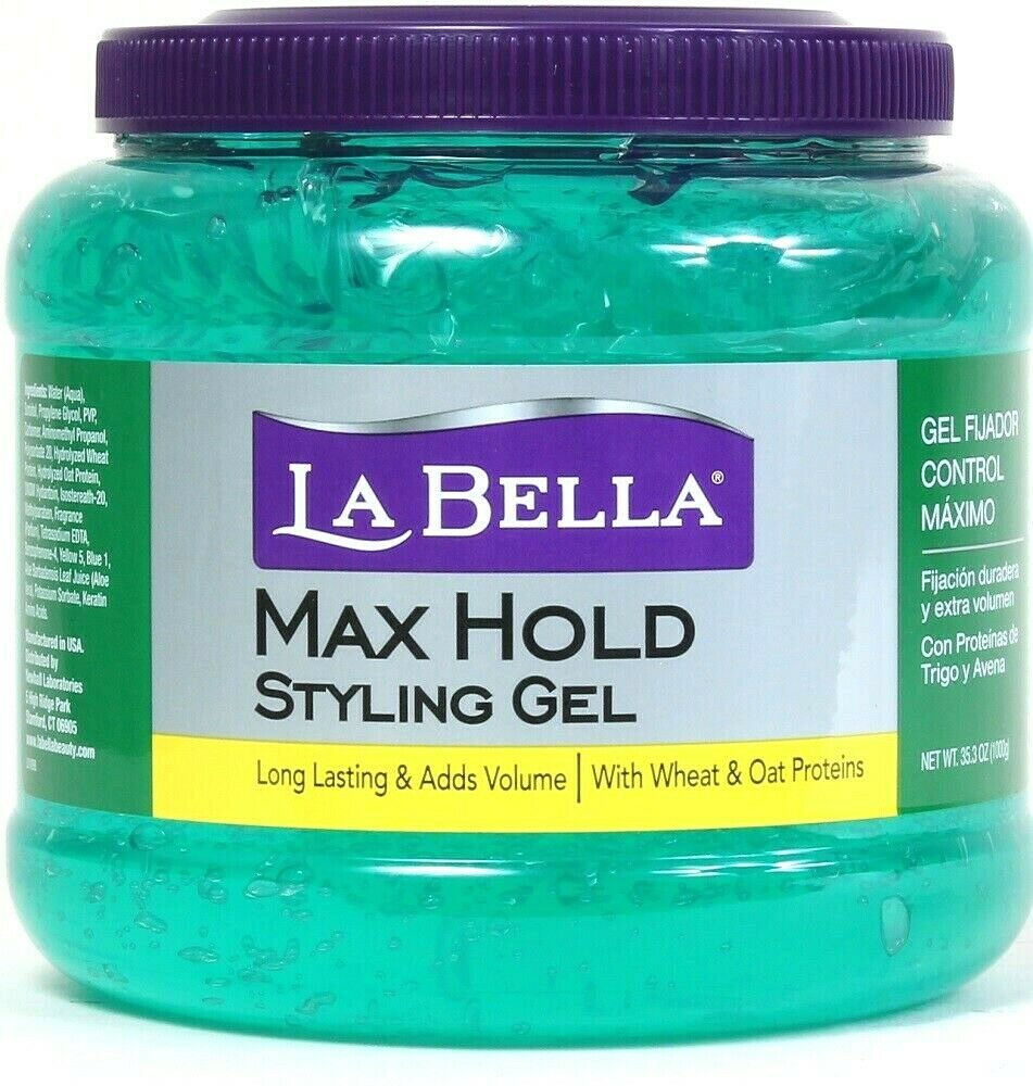 1 Ct La Bella 35.3 Oz Max Hold Wheat & Oat Protein Long Lasting Styling Gel