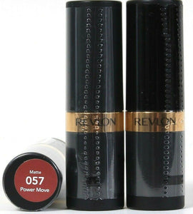 3 Count Revlon 0.15 Oz Super Lustrous Matte 057 Power Move Moisture Lipstick
